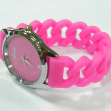 Hollow bracelet watch silicone wristwatch