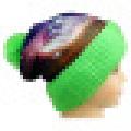 Beanie de malha com design listrado NTD1648