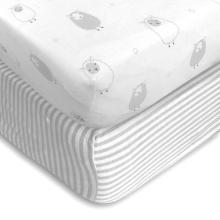 Material saudável 100% algodão queen size equipado folha de berço soft-fit tamanho do bebê equipado lençol