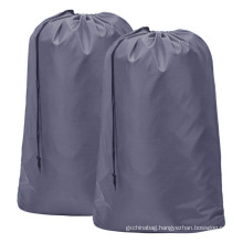 Customized Logo Hotel waterproof travel laundry bag care bag polyester drawstring pocket dirty laundry bag