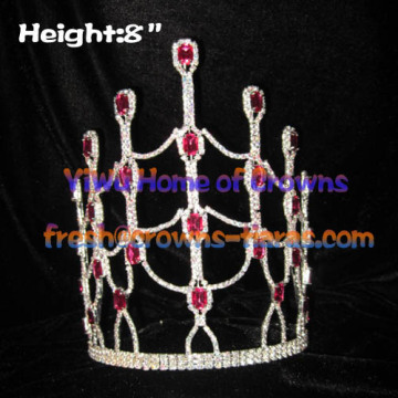 Coronas de diamante cristal Pageant Queen rosa