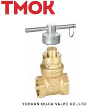 brass internal thread lockable handle brass stop valve