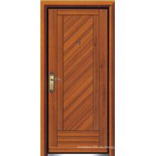 Puerta blindada de madera de acero de estilo turco (LTK-D304)