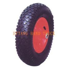Gummi-Rad 3.50-8 Stahl Felge. Rautenmuster