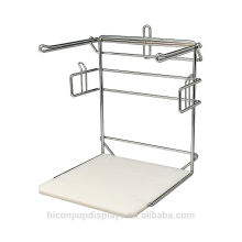 Help You Sell And Counvenient For Packing Chormed Retail Store Metal Wire Counter Display Rack For Bags