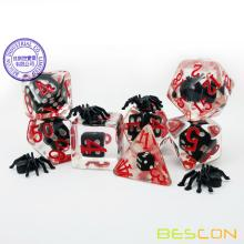 Bescon Novelty Spider Polyhedral RPG Dice Set