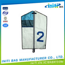 Customized top quality non woven zip lock /suit garment bags