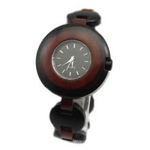 Hlw101 OEM montre en bois de montre en bois de montre en bambou des hommes et des femmes de haute qualité