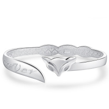 Women′s Fashionable Fox Sterling Silver Cuff Bracelet Gift for Her