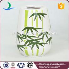 YSb40063-06-º banheiro acessórios titular escova de cerâmica com design de bambu