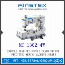 2-Needle Flat Bed Double Chain Stitch Picotting Sewing Machine (1302-4W)
