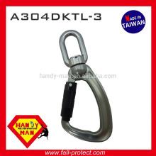 Aluminum Alloy swivel eye 25kN Load Indicator Snap Triple Lock Hook