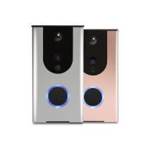Timbre video favorable elegante del wifi con las cámaras del intercomunicador de la puerta del sensor de movimiento del pir