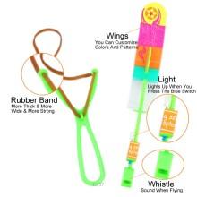 Fliegende Rakete Gummiband Sling Shot Pfeil Spielzeug