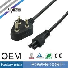 SIPU haute qualité INDE brancher le cordon d'alimentation pour PC en gros cordons d'alimentation avec fiche moulée meilleur prix câble d'alimentation fusible