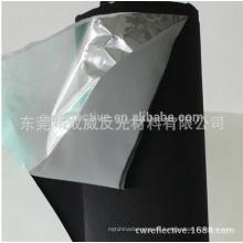 hitze high light silber 3m reflektierende stoff / reflektierende polyester lammfell stil blauen stoff
