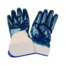 Jersey-Liner-Handschuh mit Nitrilbeschichteter offener Sicherheits-Manschette