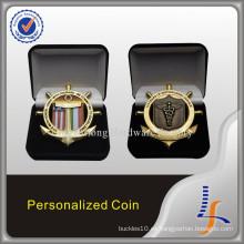 Moneda de desafío especial con pantalla de caja