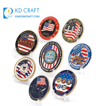 Manufacturer in china custom metal stamping soft enamel us country flag 3d usa american coin for souvenir