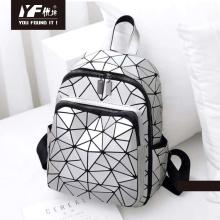 PU leather custom triangle waterproof hiking backpack