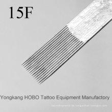 Günstige Standard-Qualität flache Einweg-Tattoo Nadeln Versorgung