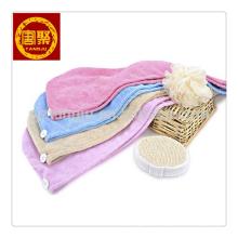 Toalha mágica de alta absorção para o cabelo, faixa de cabelo de poliéster microfibra toalha