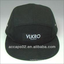 woven label cotton 5 panel hat