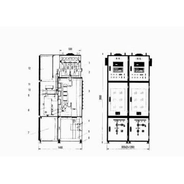 Indoor Gas Isolierung metallverkleideter Schaltanlagen (C-GIS)