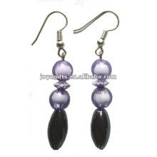 Fashion Hematite Oval Beads Earring