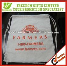 Customised Size OEM Logo Cotton Drawstring Bag