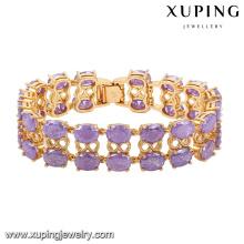 74467 -Fashion Luxury Big CZ Rhinestone pulsera de imitación de la joyería para la boda chapado en oro 18k