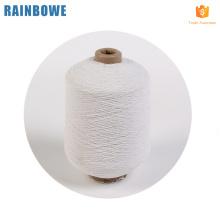 Hilo cubierto de goma de látex barato profesional para calcetines en stock hilado de goma de spandex blanco