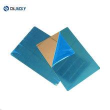 Haute qualité A4 A3 ou plaque en acier inoxydable brillant glacé de taille adaptée aux besoins du client / plaque d'acier d'effet de miroir pour la carte de stratification