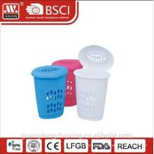 Panier en plastique rond panier à linge/lessive avec rond lid(39L)