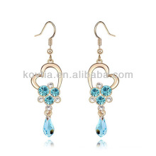 Promotion boucles d'oreille de diamant aigue-marine