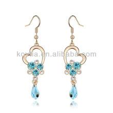 Promotion cheap aquamarine diamond chandelier earrings
