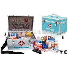 Neue Ankunft-Aluminium-erste Hilfe-Kasten mit einer Tasche und ein Fach im Inneren von Foshan Hersteller