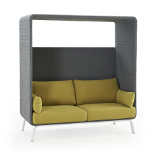 High Back Private Coffee Shop Restaurant Club Love Sofa Booth Seating