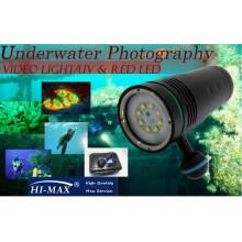 Heißer Verkauf UV8 Tauchen-Videobeleuchtung 5600lm Unterwasser tauchen Taschenlampe Videokamera
