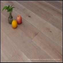 Geräuchertes gebürstetes Weißlack Engineered Oak Wood Flooring