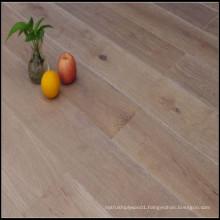 Smoked Brushed White Lacquer Engineered Oak Wood Flooring