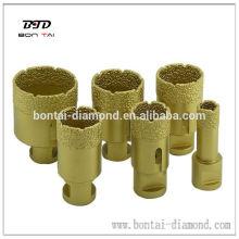 Diamond vacuum brazed hole saw drill core bit