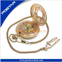 Psd-3123 relógio de bolso Cinnamon Color Vintage Watch para Unisex