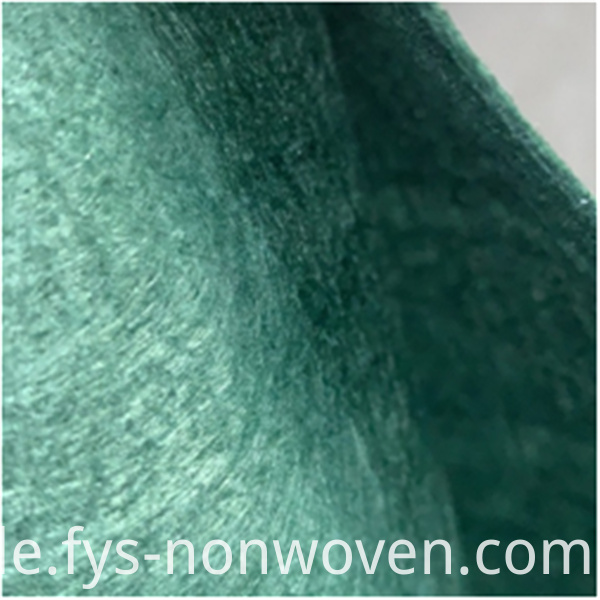 Needled nonwoven polyester