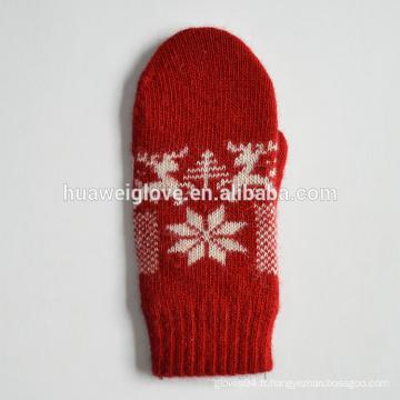 2015 Gants tricotés en acrylique à la mode pour femmes rouges pour l'hiver