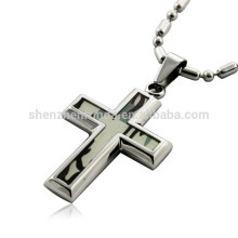 Wholesale Fashion Paper Camouflage with Stainless Steel Pendant Cross Pendants Necklaces Jewelry