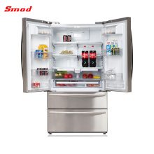 Eletrodomésticos por atacado de electrodomésticos em casa de aço inoxidável frigoríficos porta