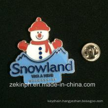 Fashion Imitation Hard Enamel Snowland Badge
