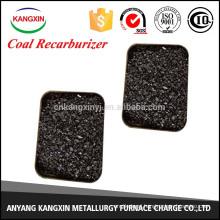 coal/low sulfur recarburant for steelmaking