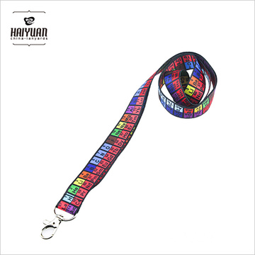 Sublimation Product Heat Transfer Printing Lanyard with Lobster Claw